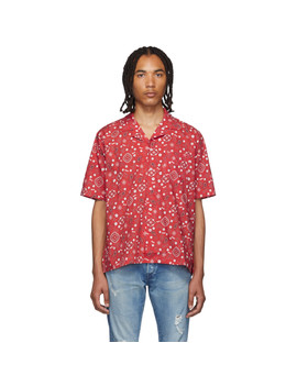 Red Bandana Hawaiian Shirt by Rhude