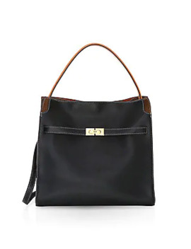 Lee Radziwell Leather Satchel by Tory Burch