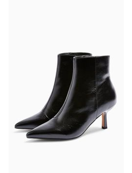 Maci Black Point Ankle Boots by Topshop