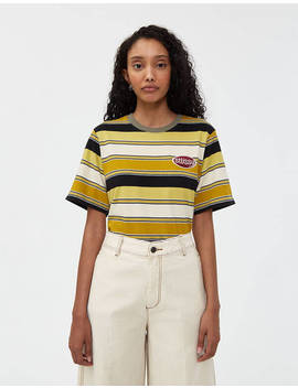 Carl Stripe Short Sleeve Tee by Stüssy Stüssy