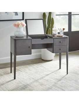 Parc Vanity Desk Gray   Buylateral by Buylateral