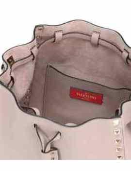 Valentino Garavani Rockstud Leather Bucket Bag by Valentino