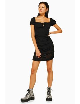 Prairie Gypsy Mesh Ruched Dress by Topshop