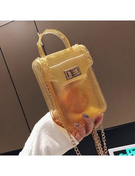 Yellowtail   Clear Candy Color Crossbody Bag by Yellowtail