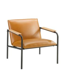 Boulevard Cafe Camel Leather Like Metal Chair by Sauder
