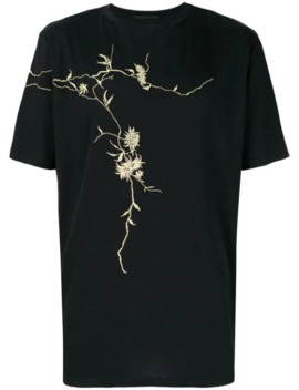 Gold Embroidered T Shirt by Haider Ackermann
