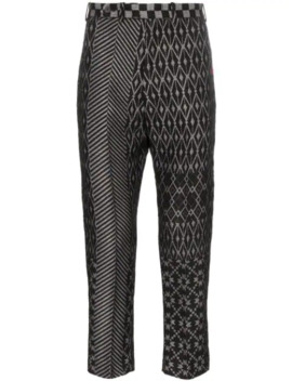 Jacquard Patterned Trousers by Haider Ackermann