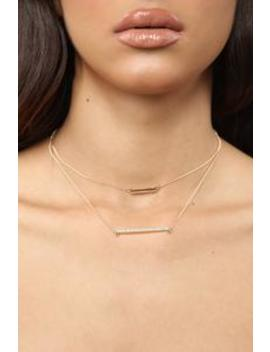 Double The Fun Necklace   Gold by Fashion Nova