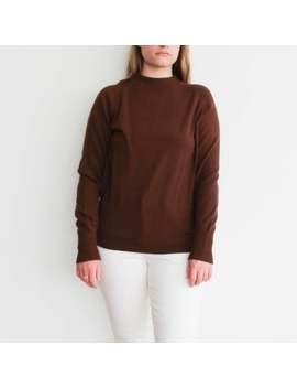 Vintage Brown Minimalist Sweater by Etsy