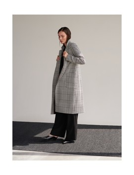 Dogtooth Print Coat by Reserved