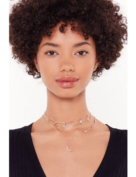 Dainty Moon & Star Necklace by Nasty Gal