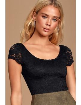 Intrinsic Love Black Lace Bodysuit by Lulus