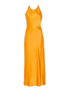 Cross Back Satin Slip Dress by Rosetta Getty