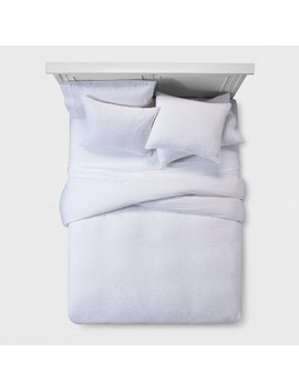 White Micro Texture Duvet Cover Set (Full/Queen)   Project 62 + Nate Berkus™ by Project 62 + Nate Berkus™