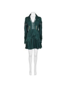 Jacquard Lace Trimmed Mini Dress by Self Portrait
