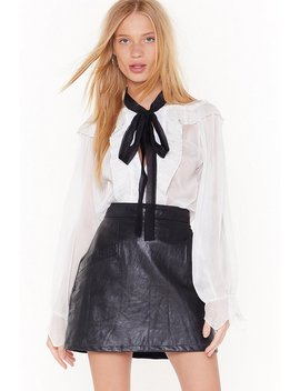 Tie It With Me Sheer Ruffle Blouse by Nasty Gal