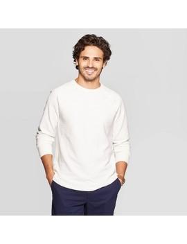 Men's Standard Fit Long Sleeve Textured Crew Neck Shirt   Goodfellow & Co by Goodfellow & Co