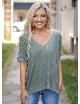 Ace Ribbed Tee   Olive by Rosie Daze
