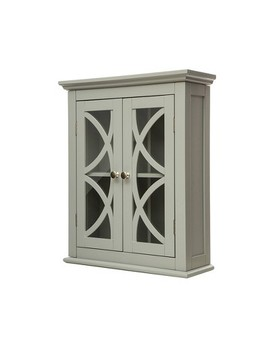 Wall Cabinet With Double Doors Gray   Glitzhome by Glitzhome