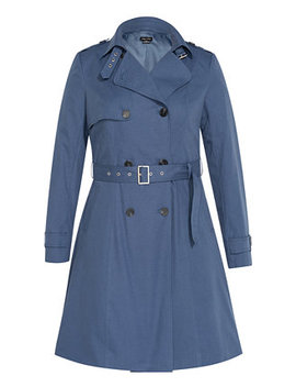 Trendy Plus Size Classic Trench Coat by General