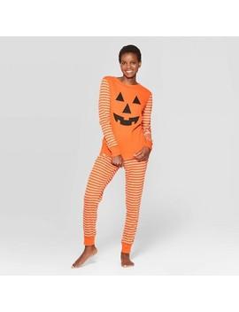 Women's Family Pajama Halloween Pumpkin Set   Orange by Orange