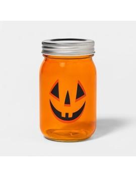 Pumpkin Face Halloween Mason Jar   Hyde & Eek! Boutique by Hyde & Eek! Boutique