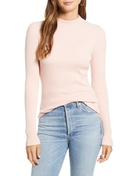 Mock Neck Ribbed Long Sleeve Sweater by Rachel Parcell