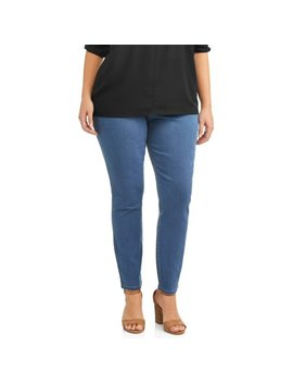 Just My Size Women's Plus Size Pull On Stretch Denim Jegging by Just My Size