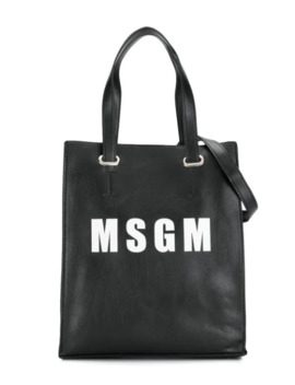 Contrast Logo Tote by Msgm Kids