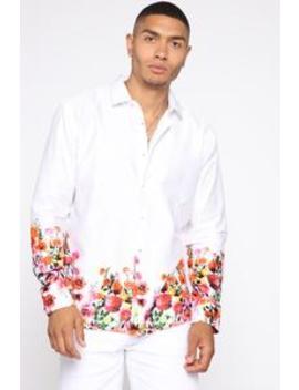 Sorrel Long Sleeve Woven Top   White/Combo by Fashion Nova