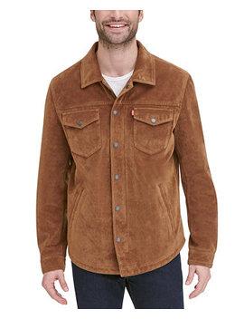 Men's Faux Suede Shirt Jacket by General