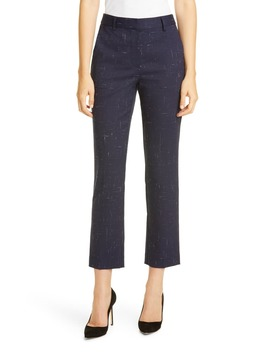 Crosshatch Ankle Trousers by Tailored By Rebecca Taylor