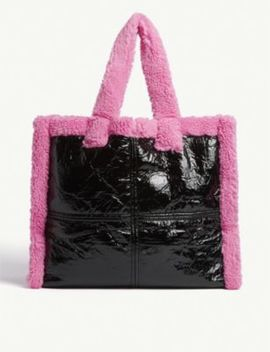 Lola Shearling Tote Bag by Stand