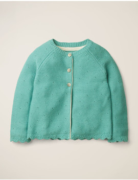 Cosy Cardigan   Duck Egg Blue by Boden