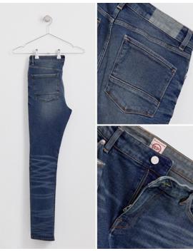Asos Design 12.5oz Super Skinny Jeans In Vintage Dark Wash Blue by Asos Design
