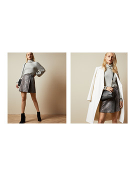 Faux Snake Wrap Skirt by Ted Baker