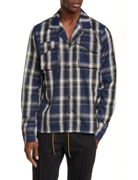 Plaid Button Up Twill Overshirt by Rhude