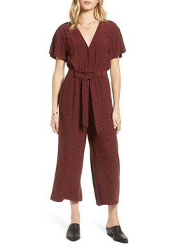 Jet Spotted Crop Wide Leg Jumpsuit by Rails