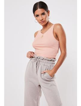 Rose Ribbed Crop Top by Missguided