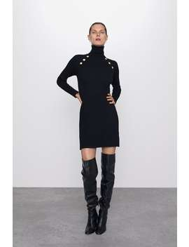 Mini Dress With Buttons View All Dresses Woman by Zara