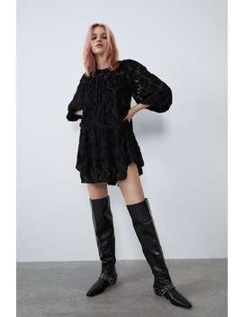 Loose Fitting Textured Dress View All Dresses Woman by Zara