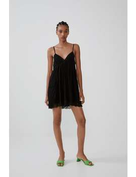 Embroidered Playsuit Dress View All Dresses Woman by Zara