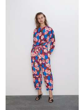 Belted Floral Print Pants  View All Dress Time Woman Cornershops by Zara