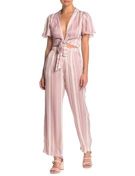 Kensington High Waisted Striped Satin Pants by Show Me Your Mumu