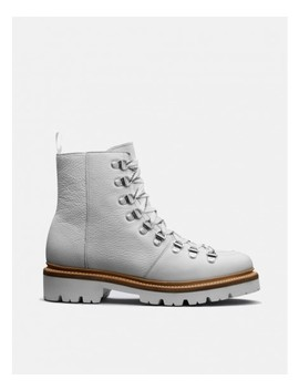 Womens Grenson Nanette Ski Boot (Softie Calf)   White by Grenson