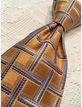 Ermenegildo Zegna Necktie In 100% Silk Made In Italy. A Beautiful Pattern Design, Near New Condition by Etsy