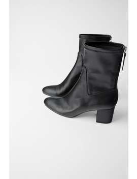 Heeled Ankle Boots With Zip Back  Back To Office Shoes Woman by Zara