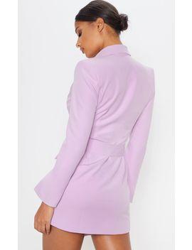 Dusty Lilac Belt Blazer Dress by Prettylittlething