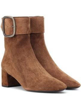 Ankle Boots Joplin 50 Aus Veloursleder by Saint Laurent