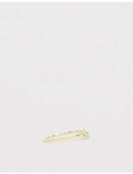 Kingsley Ryan Sterling Silver Gold Plated Opal Stacking Rings by Kingsley Ryan